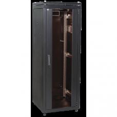 """ITK Шкаф сетевой 19"""" LINEA N 42U 600х1000 мм перфорированная передняя дверь черный"""
