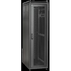 """ITK Шкаф сетевой 19"""" LINEA N 38U 600х800 мм стеклянная передняя дверь черный"""