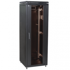 """ITK Шкаф сетевой 19"""" LINEA N 47U 600х1000 мм перфорированная передняя дверь черный"""